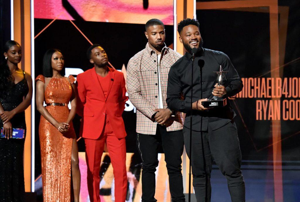 Michael B Jordan, alongside others at 2019 BET Awards