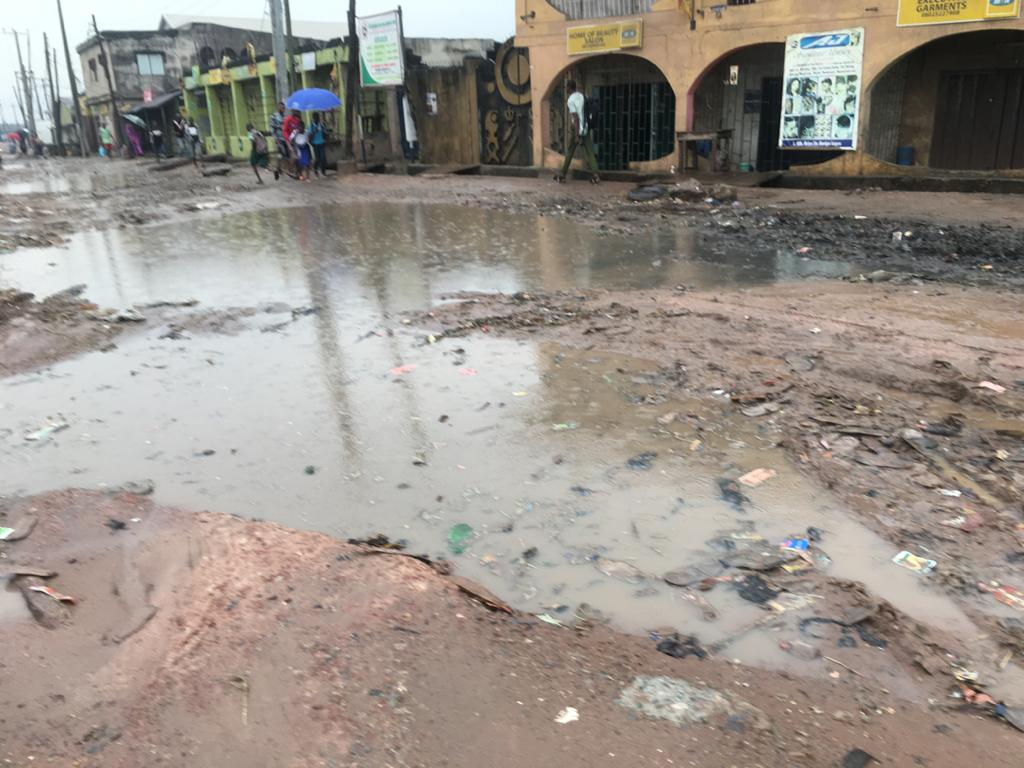 Flooded areas in Lagos