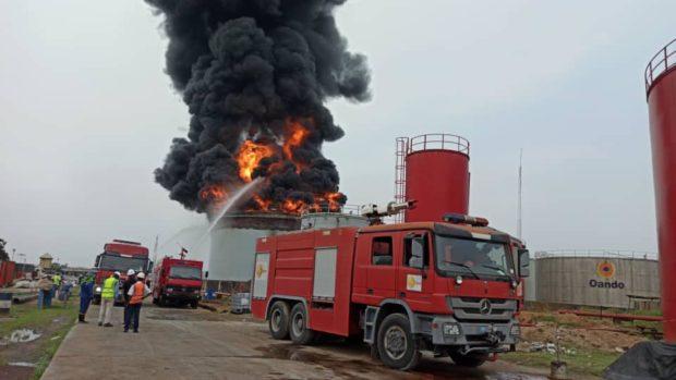 Oando Tank Farm In Lagos Razed